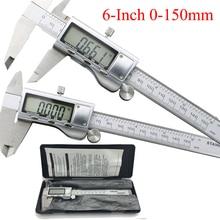 Best price 0-150mm/6″ Metal casing Digital CALIPER VERNIER caliper metal digital caliper GAUGE  Micrometer Measuring