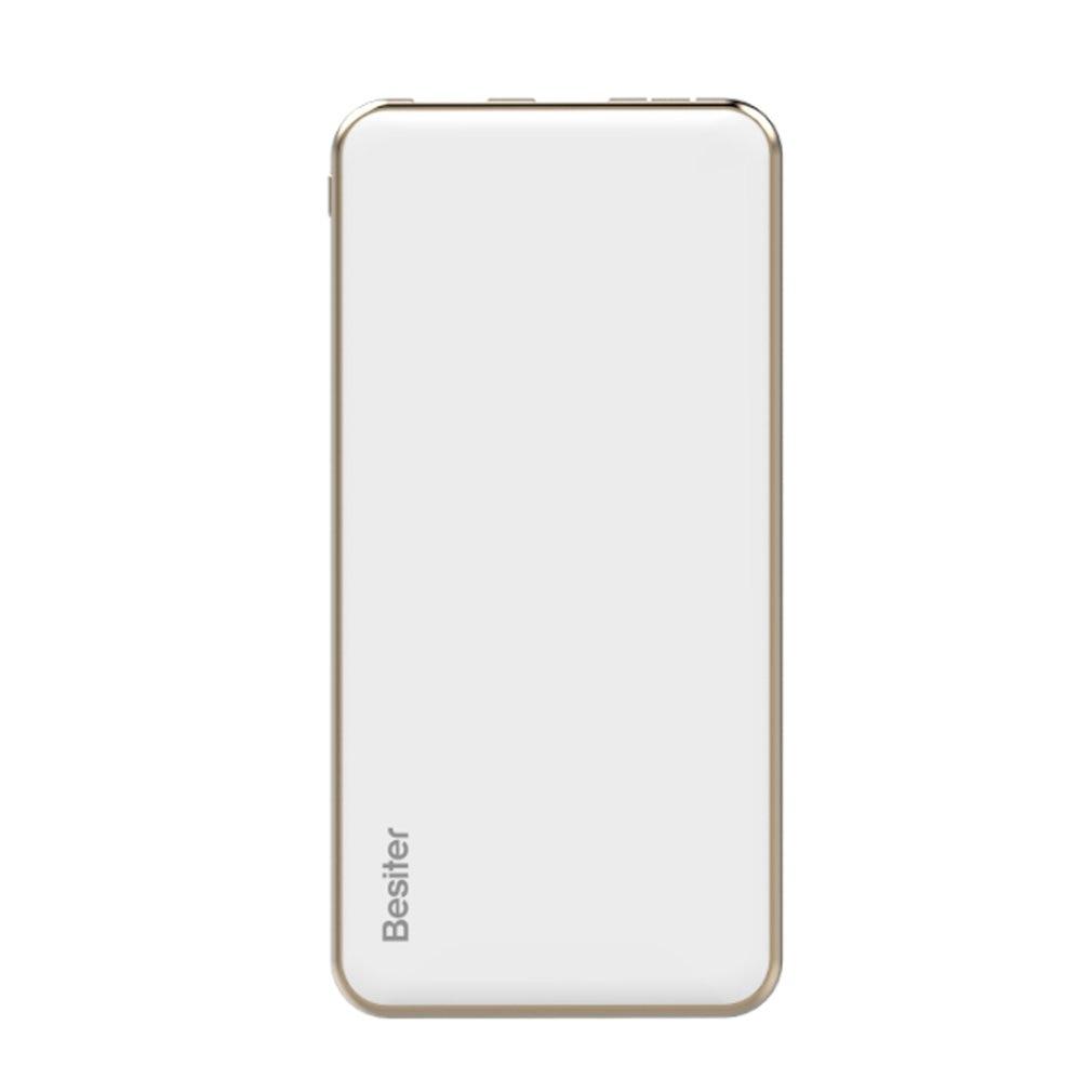 BESITER Mercury 10 (BST-006Q) 10000 mAh Ultra-chargeur portatif fin chargeur de batterie Portable alimentation pour téléphones intelligents blanc