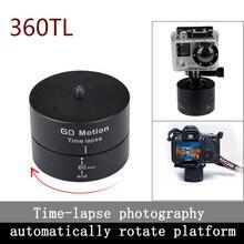 """Kingma nuevo 1/4 """" 360 grados toma panorámica giratoria Time Lapse estabilizador trípode adaptador para Gopro DSLR cámara Digital envío gratis"""