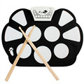 High Quality Silicone Portable Digital USB Midi Roll-up Electronic Drum Pad Kit with Stick and Foot Pedal Best Price Jan5