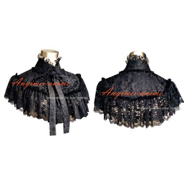 Gothique Lolita Punk noir dentelle Cape Cosplay Costume sur mesure [G305]