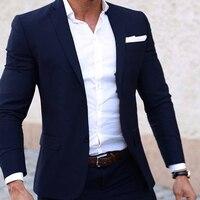 Мужские летние костюмы, изготовленные на заказ лёгкие дышащие синие мужские костюмы, темно синий классный портной летний свадебный наряд д