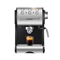 stainless steel Coffee machine Semi automatic Italian commercial steam milk foam coffee maker 20bar 220v 1050w 1pc