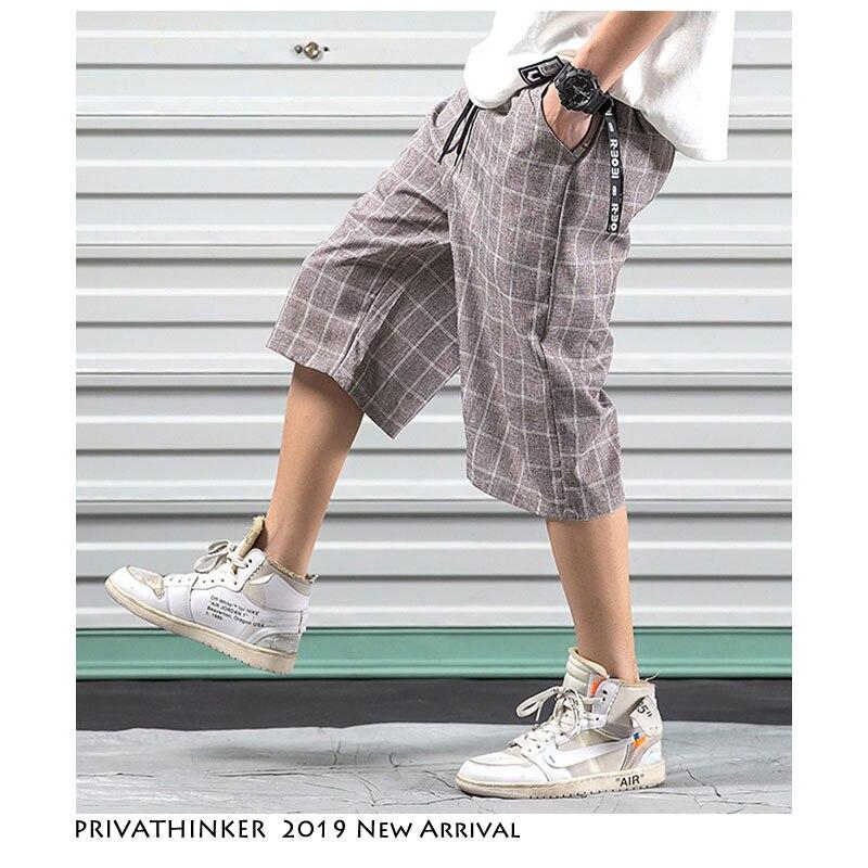 Privathinker Männer Streetwear Plaid Harem Hosen 2019 Sommer Herren Hip Hop Breite Bein Jogginghose Männlichen Fashions Designer Lose Jogger