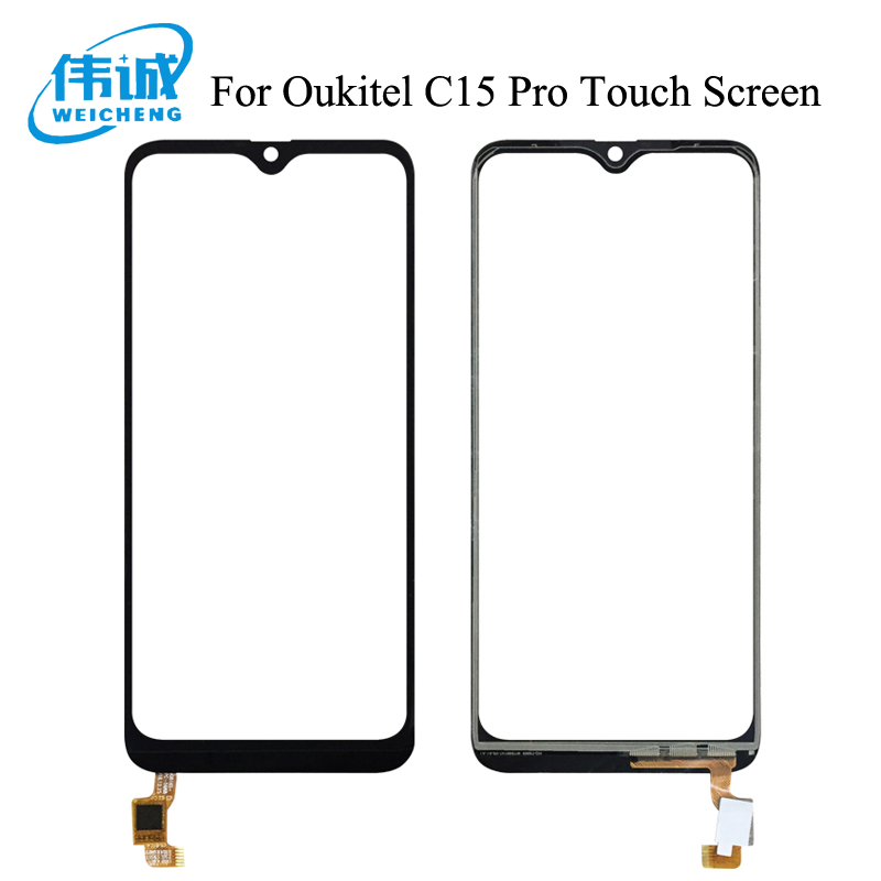 WEICHENG Top Quality For Oukitel C15 Pro Touch Screen Digitizer 100% Tested Digitizer Glass Panel Replacement