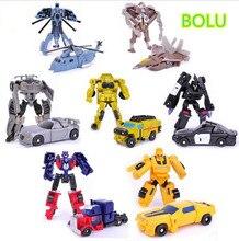 2016 Transformation 7pcs/lot Kids Classic Robot Cars Toys For Children Action & Toy Figures