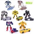 2016 robot transformación 7 unids/lote kids classic cars toys para niños acción y del juguete figuras