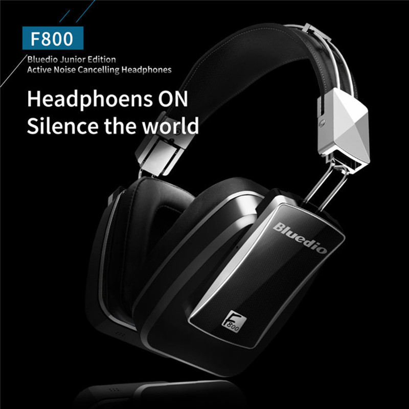 Original Bluedio F800 Bluetooth 4.1 Headphone Wireless Active Noise Cancelling Earphone Over Ear Headphones Bass Metal Headset