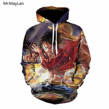 Anime One Piece Luffy 3D Print Hoodies Men Women Pullovers Hooded Sweatshirts Hip Hop Streetwear Unisex Clothing Plus size 5XL lo 11516
