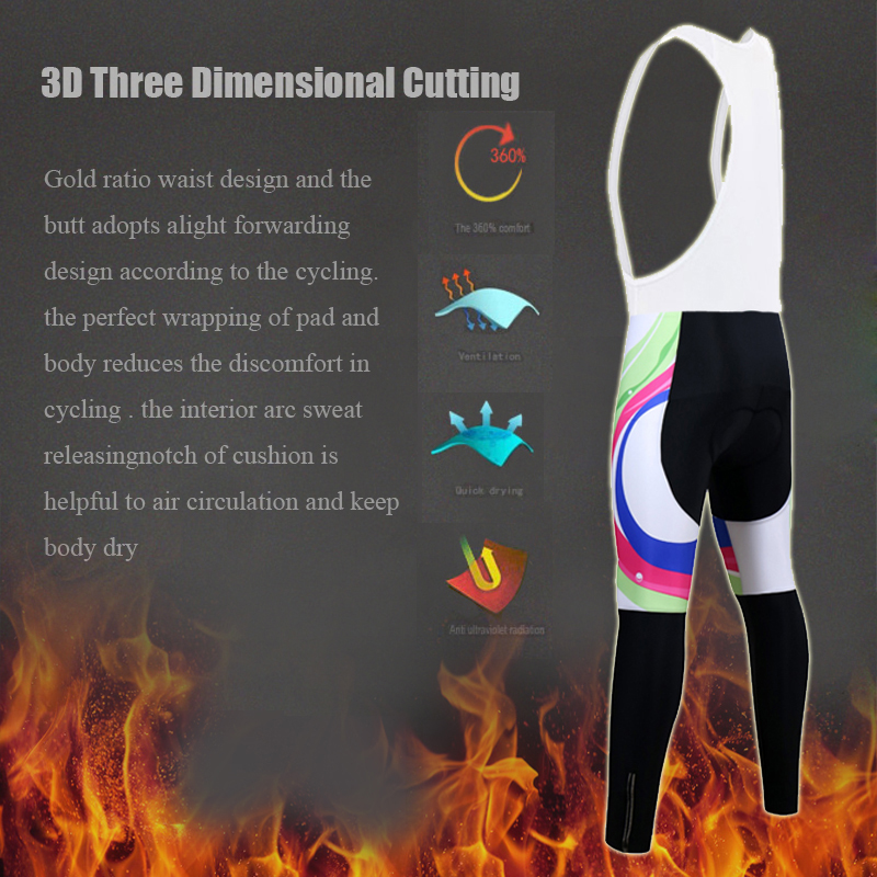 Siilenyond 2019 Women Winter Cycling Bib Pants With 3D Gel Pad Shockproof MTB Bicycle Cycling Bib Trousers Thermal Cycling Tight 5