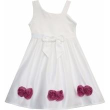 Cute Asymmetric One Shoulder Flower Party Dress Size 2-6yrs