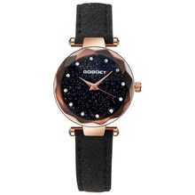 Hot Sales Gogoey Brand Rose Gold Starry Leather Watches Women Ladies Crystal Dress Quartz Wrist Watch Relojes Mujer g4413-2 hot sales gogoey brand pair watches men women lovers couples fashion dress quartz wristwatches 6699