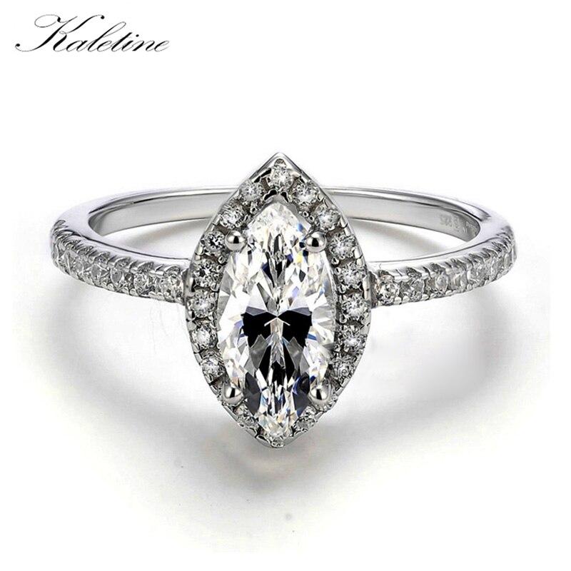c65518ec0d4d Joyería de plata esterlina grande Marquise CZ simulado piedra 925 de plata  esterlina mujer anillo de compromiso - a.dedede.me