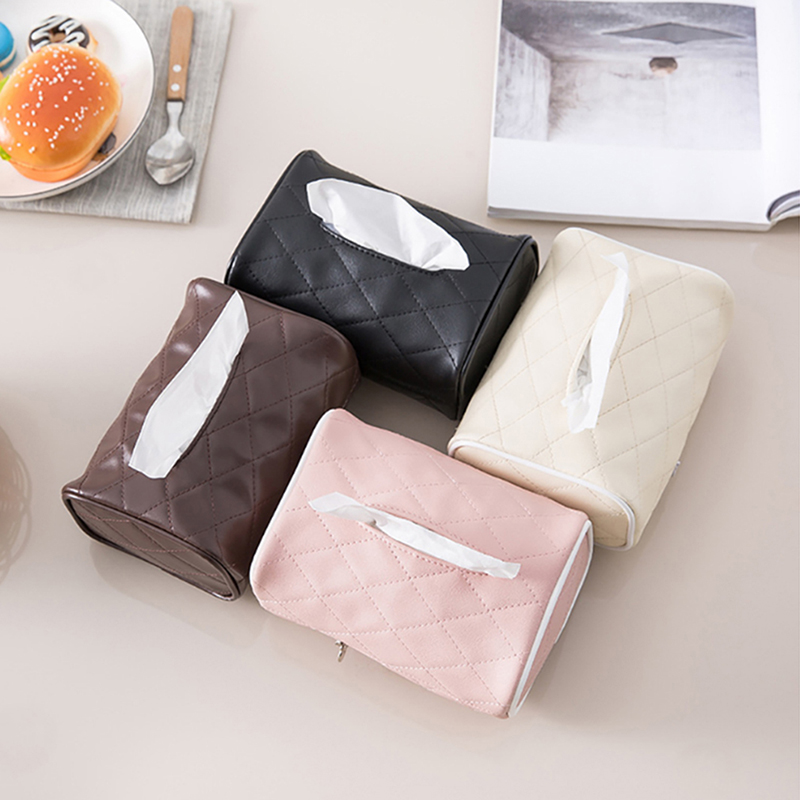 1 Pc New Arrivals Pu Lederen Servethouder Kamer Auto Sofa Hotel Decoratieve Papier Container Case Tissue Box Cover