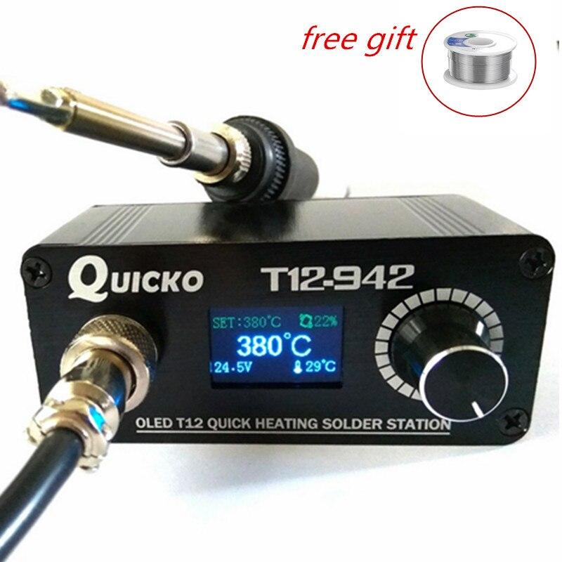 Mini stacja lutownicza 24V 3A MAX 75W lutowane T12 żelazne wiertło przenośne gotowe stacje lutownicze Adapter narzędzie spawalnicze