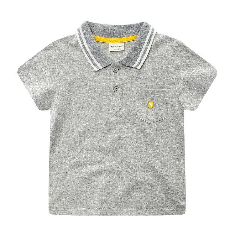 2018 летние Новинка; одежда для детей, корейский мальчик футболка, хлопок с лацканами, с короткими рукавами Детская рубашка