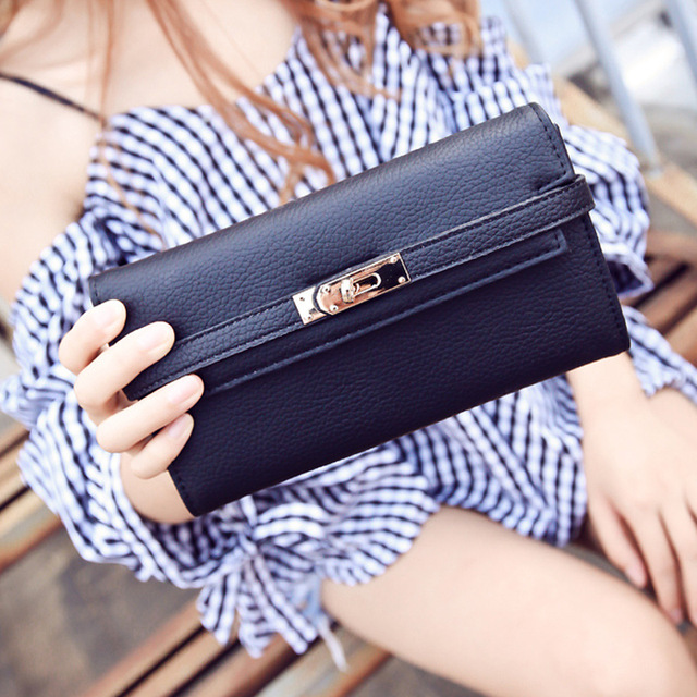 Fashion leather wallet dollar price luxury purses women wallets designer high quality card holder famous brand clutch 1