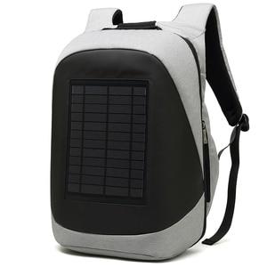 Image 2 - ソーラー充電パネルバックパック男性ビジネスマンラップトップバッグ高テックバックパック盗難防止優れた超クールな異なる独特の
