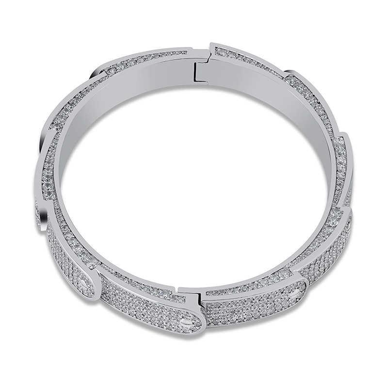 Missfox moda Hot Wheels bransoletka dla mężczyzn pełna Lab diament styl opaska na nadgarstek mankiet bransoletki stali nierdzewnej biżuteria akcesoria człowieka 2019 nowych mężczyzna