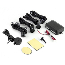 DC12V LED Sensor de Aparcamiento 4 Sensores Del Coche Del Monitor Auto Reverse Sistema Detector de Radar de copia de seguridad Kit de Sonido de Alerta de Alarma Indicador de Sonda ~