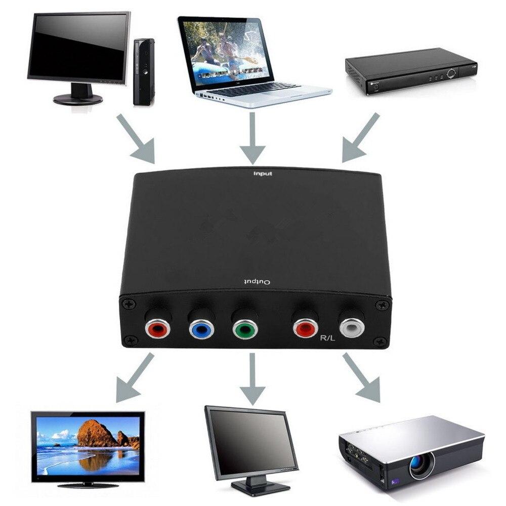 הגעה חדשה hdmi ל rgb component (ypbpr) וידאו + r/l אודיו מתאם ממיר הטלוויזיה hd s3