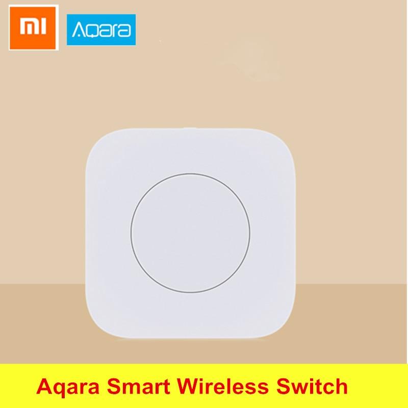 Xiaomi Aqara Smart Wireless Switch Intelligent Application Remote Control ZigBee Wifi Connection For Doorbell International Ver waveshare core51822 bluetooth 4 0 module wireless for intelligent application