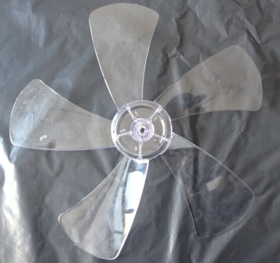 quality universal big wind power 16 inches5 blades transparent plastic stand or table fan parts 400mm central hole 8mm