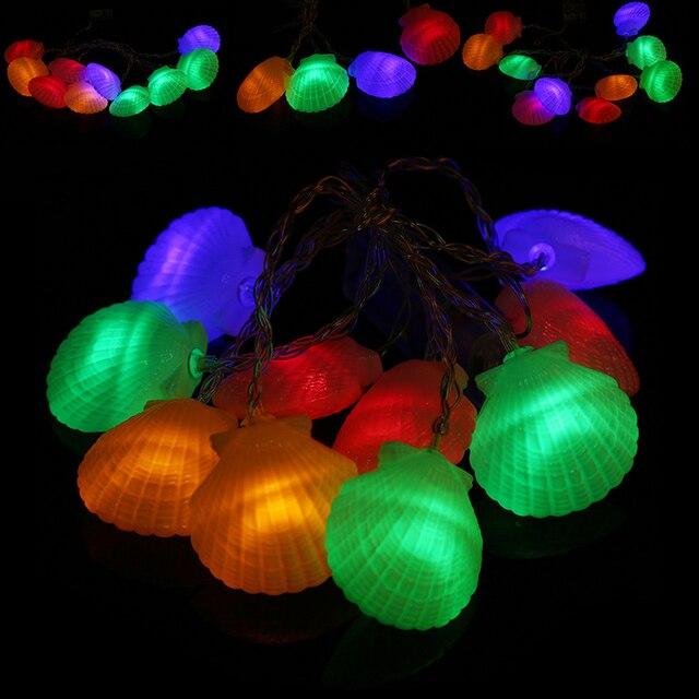 WHISM 10 Schelpen Lichtslingers LED Kerstverlichting Voor Kerst Glow ...