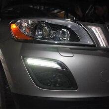 12 v à prova d' água LEVOU CARRO DRL Luzes Diurnas luz de nevoeiro com escurecimento estilo XC60 Relé para VOLVO 2011 2012 2013