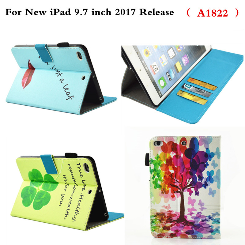 PU Leather Protective Cover Flip Stand Holder Shockproof Kids Cute Cartoon Cases For New Ipad 9.7 Inch 2017 Release A1822 Case case cover for goclever quantum 1010 lite 10 1 inch universal pu leather for new ipad 9 7 2017 cases center film pen kf492a