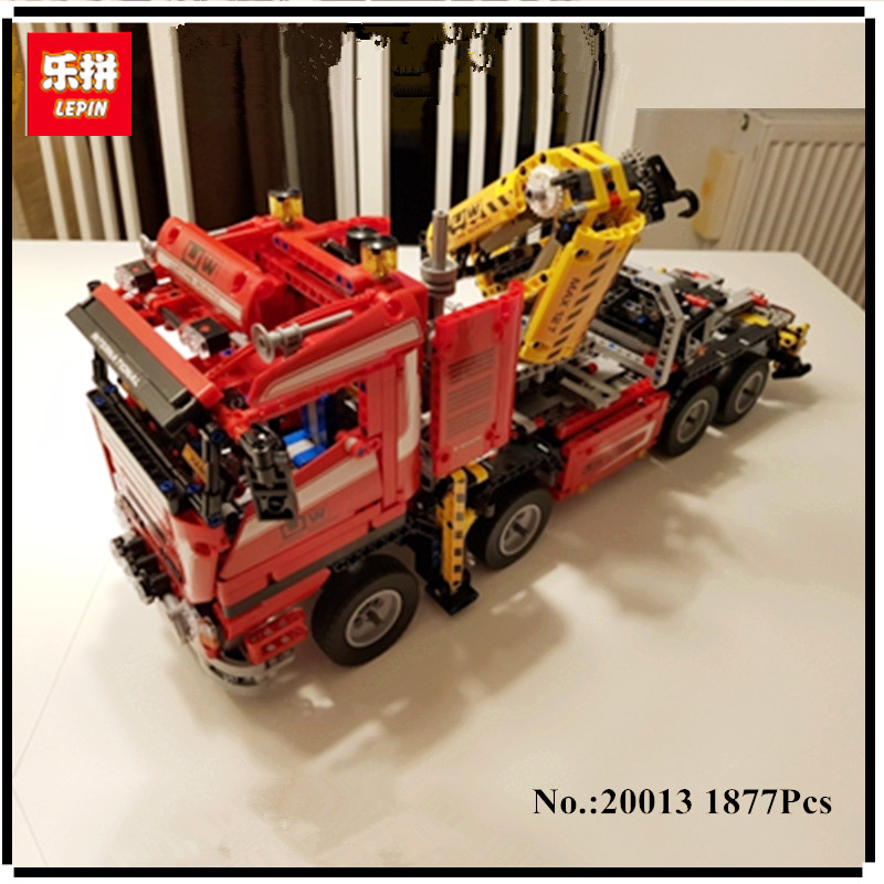 IN STOCK New LEPIN 20013 1877Pcs Crane Truck Wrecker Model Building Kits Blocks Bricks Toys Christmas Gift With 8258 concept driven 2sc0435t 2sc0435t2a0 17 new stock