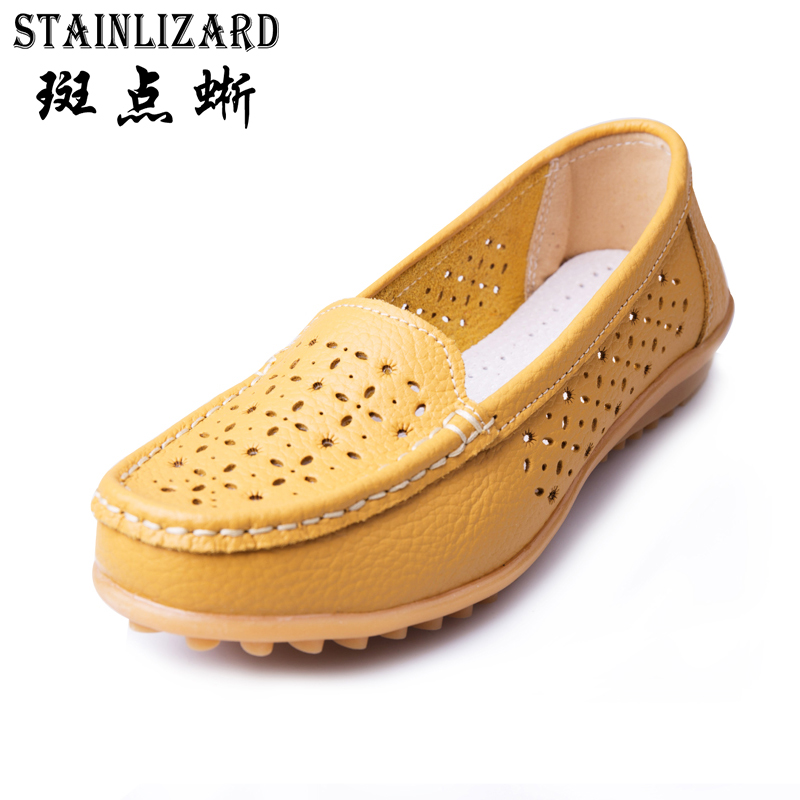 2017 New Fashion Woman Flats Cut Outs Comfortable Women Shoes Casual Solid Color Round Toe Summer