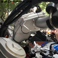 Mayitr 2PCS CNC Machining Handlebar Risers Bar Clamp Extend Adapter With Bolts for BMW F700GS F650GS