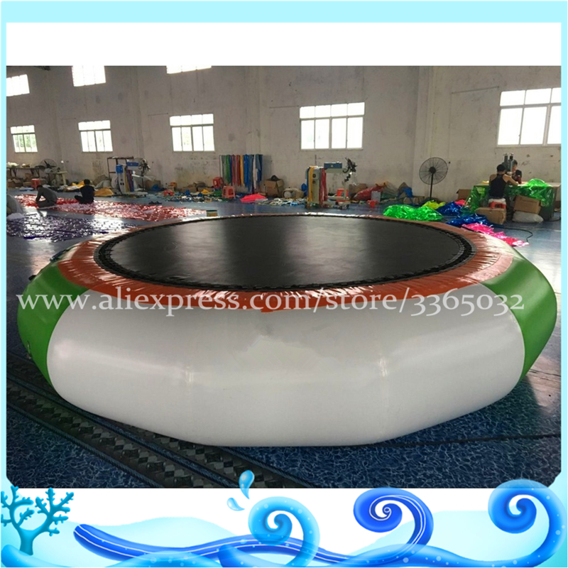 Lake inflatables water games inflatable water trampoline Inflatable Entertainment floating island