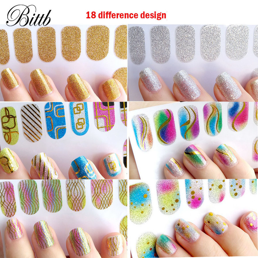 bittb 18pcs manicure nail stickers