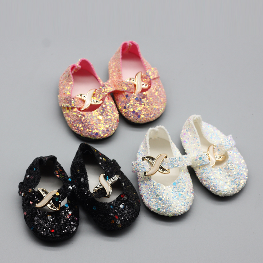 1Pair shining Shoes For 18 INCH american girl doll boots shoes dolls for Slippers Accessories Christmas birthday gift for baby [mmmaww] christmas costume clothes for 18 45cm american girl doll santa sets with hat for alexander doll baby girl gift toy
