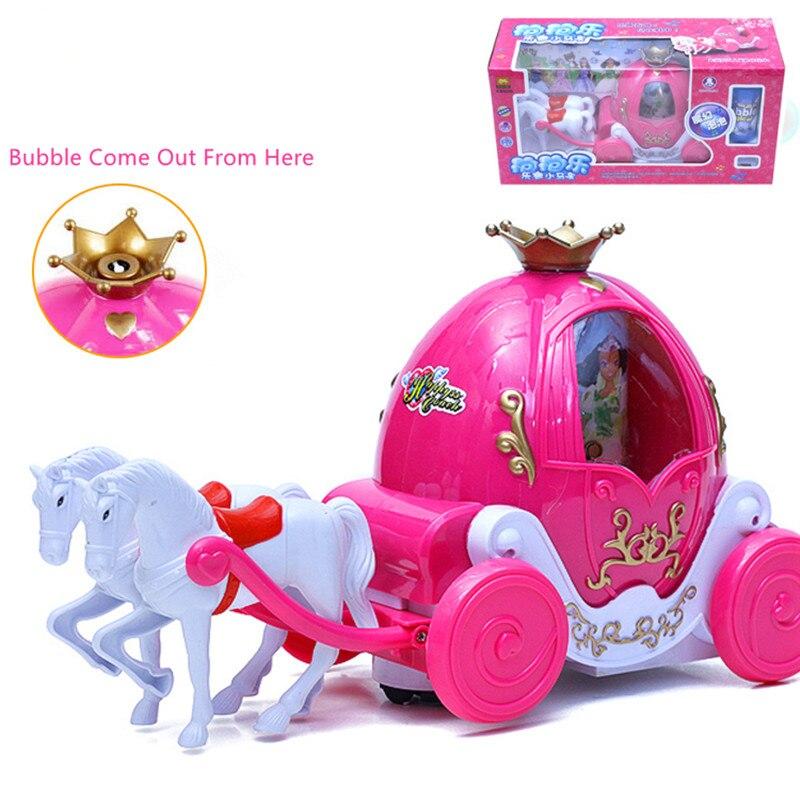 Bébé bulle soufflant jouet Train chariot Musical camion de pompier ingénierie véhicule Batteries et bulle liquide non inclus