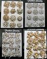 12 Unids x broches Del Rhinestone de plata/oro rosa de color broche pin nupcial de la boda de la decoración Al Por Mayor de lot