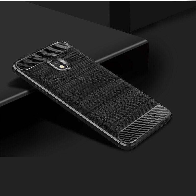 100PCS Lot Soft Carbon Fiber Anti knock Back Case For Nokia 2 3 5 Plus 6