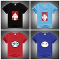 Hot Sell New Fashion Boys Cartoon T Shirt Big Hero 6 Printed Children Tops For Boys Cotton Casual Kids Clothes O-neck Tees