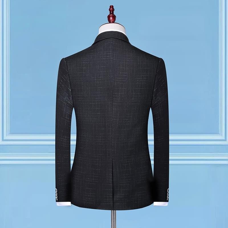 2019 Мужская мода Корейская версия Мужская брендовая одежда свадебные костюмы джентльмен жених платье костюм костюмы (костюмы + брюки) - 5