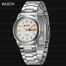 WLISTH Hombre WatchTop Marca de Lujo reloj Militar hombres de Cuarzo Completa de Acero Inoxidable Auto fecha de Hombre Relojes de Pulsera relogio masculino