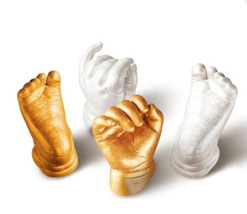 Souvenir Baby 3D Hand And Foot Printing Mold Powder Gypsum Casting Kit Handprint Footprint Souvenir Gift Baby Growth Memorial