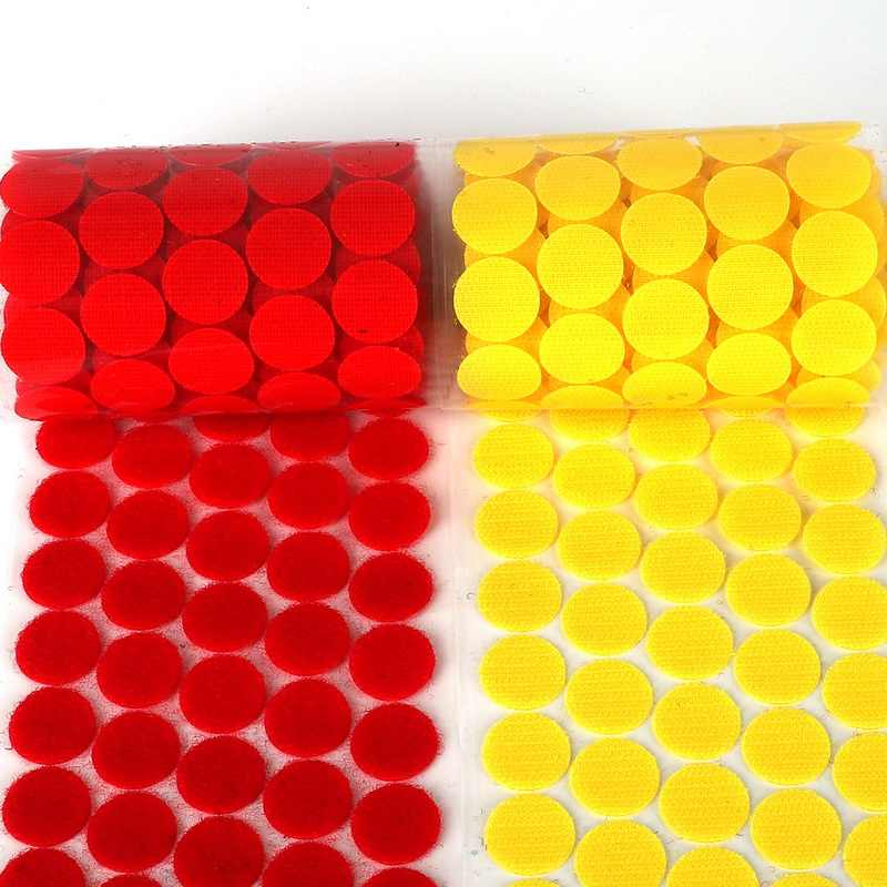 100Pairs/lot Adhesive Fastener Tape Dots Hook And Magic Sticker Round Strong Self Adhesive Tape for DIY Sewing Garment Supplies