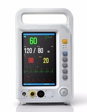 GPYOJA CE ISO Veterinary Patient Monitor Four Parameters ECG RESP NIBP SPO2 Test Monitor Continuous Measuring LCD Display