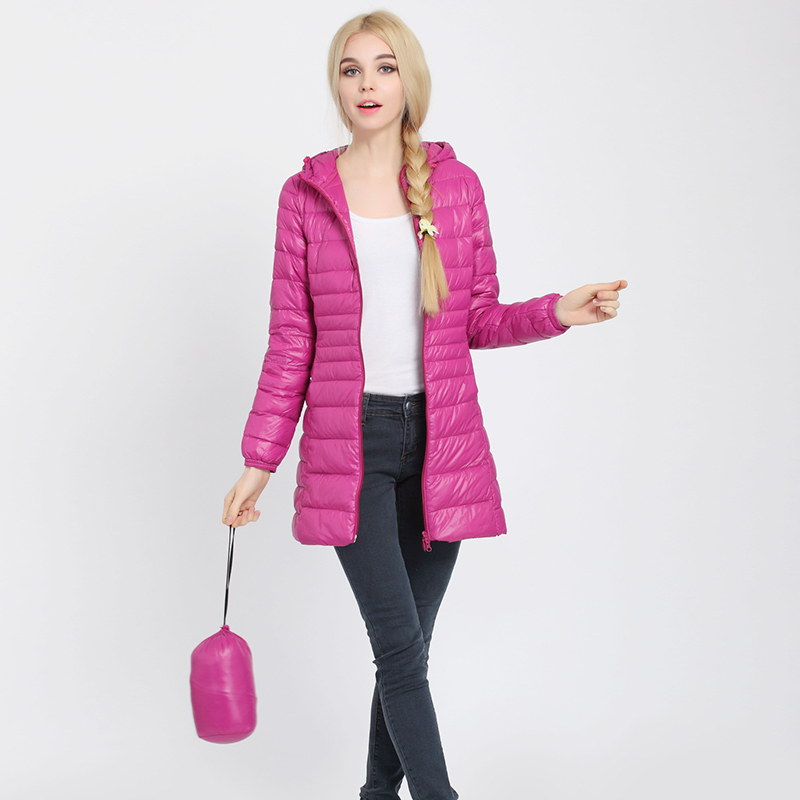 COMLESS Plus Size 4XL 6XL Women Casual Ultralight Down Jacket with 90 Down 10 Feather Zip