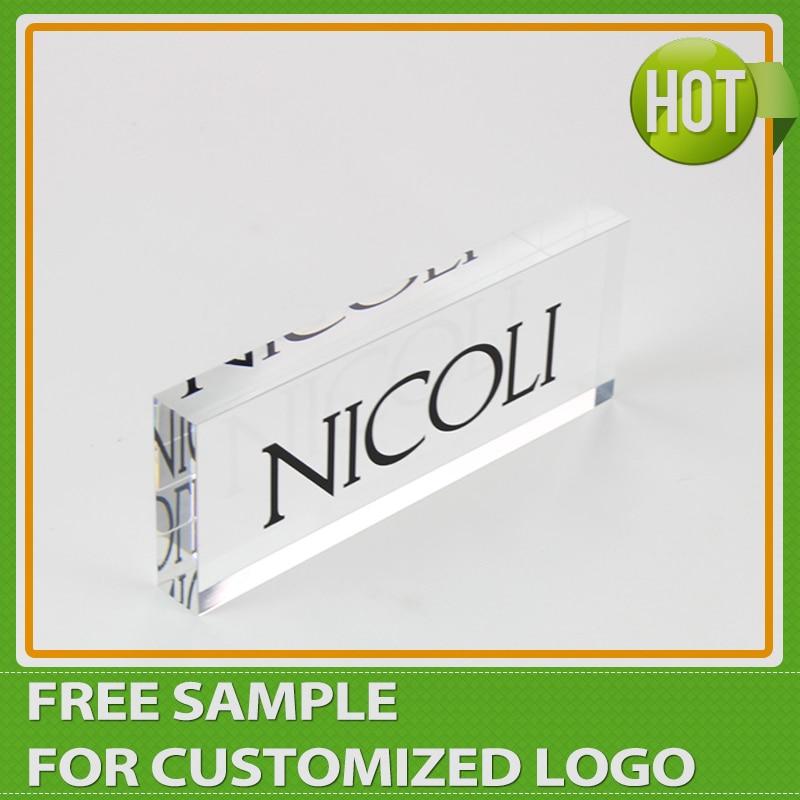 Customized Clear Lucite Plexiglass Acrylic Display Logo Block Signage Wholesale