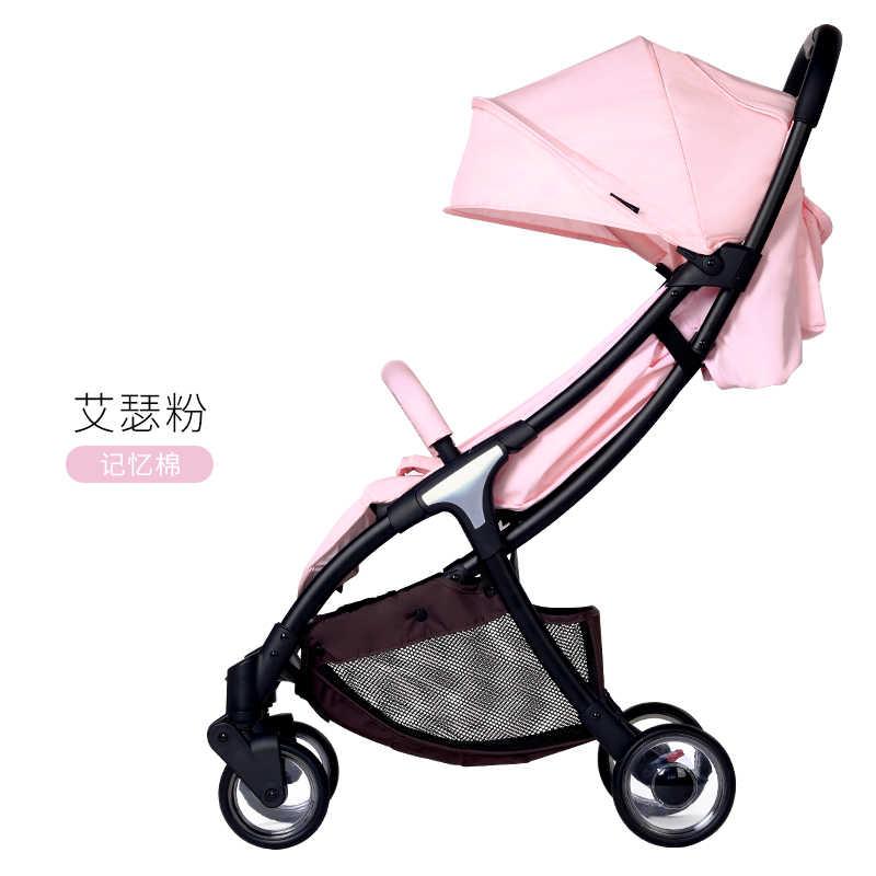 Vinng carrinho de bebê portátil parm pode sentar e estabelecer leve dobrável ultra-leve pequeno bolso das crianças carrinho de criança
