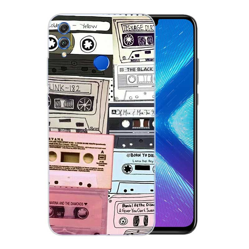 Soft TPU Print Hull Case For Huawei Honor V20 8X 7 8 9 10 lite 7X 8A V9 V9 Play Frosted Fundas Cover Vintage Tape Camera Gameboy in Fitted Cases from Cellphones Telecommunications