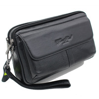 Genuine Leather Business Men Clutch Bag Wrist Bag Hand Bags famous brand fashion trend Purse Mobile Phone Bag Casual Wallet 2269